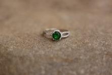 Prsten 'Zeleni zirkon', 432 kn / 58 Eur